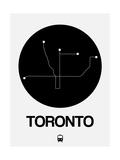 Toronto Black Subway Map Giclée-Premiumdruck von  NaxArt
