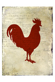 Rooster Silhouette 1 Affiche par Kimberly Allen