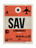 SAV Savannah Luggage Tag I Print by  NaxArt