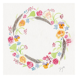 Wildflower Wreath 2 Posters av Beverly Dyer