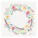 Wildflower Wreath 1 Poster par Beverly Dyer