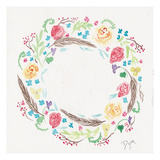 Wildflower Wreath 1 Plakat av Beverly Dyer
