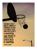 Expect Great Things Poster von  Sports Mania