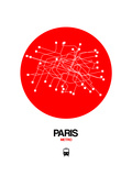 Paris Red Subway Map Posters par  NaxArt