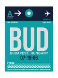 BUD Budapest Luggage Tag II Plakater af  NaxArt