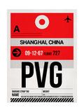 PVG Shanghai Luggage Tag I Print by  NaxArt