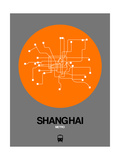 Shanghai Orange Subway Map