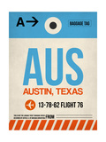 AUS Austin Luggage Tag I Poster af  NaxArt
