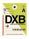 DXB Dubai Luggage Tag I Posters by  NaxArt