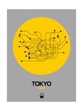 Tokyo Yellow Subway Map Kunstdrucke von  NaxArt