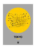 Tokyo Yellow Subway Map Art by  NaxArt