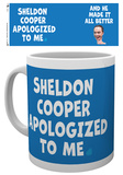 The Big Bang Theory - Sheldon Cooper Apologised Mug Krus