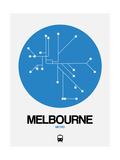 Melbourne Blue Subway Map Giclée-Premiumdruck von  NaxArt