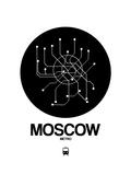 Moscow Black Subway Map Kunst von  NaxArt