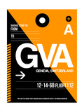 GVA Geneva Luggage Tag II Premium Giclée-tryk af  NaxArt