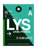 LYS Lyon Luggage Tag II Premium Giclée-tryk af  NaxArt