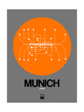 Munich Orange Subway Map Pôsteres por  NaxArt