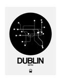 Dublin Black Subway Map Stampa di  NaxArt