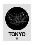 Tokyo Black Subway Map Poster von  NaxArt