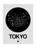 Tokyo Black Subway Map Posters by  NaxArt