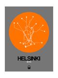 Helsinki Orange Subway Map Posters by  NaxArt