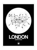 London White Subway Map Poster von  NaxArt