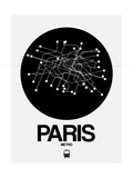 Paris Black Subway Map Prints by  NaxArt