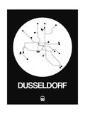 Dusseldorf White Subway Map Pôsters por  NaxArt