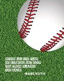 Baseball Quote Láminas por  Sports Mania