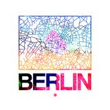 Berlin Watercolor Street Map Pôsters por  NaxArt
