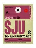 SJU San Juan Luggage Tag II Plakater af  NaxArt