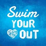 Swim Your Heart Out - Blue Láminas por  Sports Mania