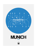 Munich Blue Subway Map Posters por  NaxArt