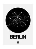 Berlin Black Subway Map Poster por  NaxArt