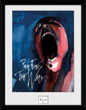 The Wall - Scream Reproduction encadrée pour collectionneurs