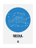 Seoul Blue Subway Map Posters by  NaxArt