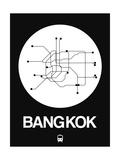 Bangkok White Subway Map Prints by  NaxArt