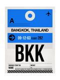 BKK Bangkok Luggage Tag II Affiches par  NaxArt