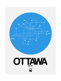 Ottawa Blue Subway Map Giclée-Premiumdruck von  NaxArt