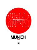 Munich Red Subway Map Posters por  NaxArt