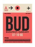 BUD Budapest Luggage Tag I Plakat af  NaxArt