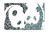 Pandabären Kunstdruck von Cristian Mielu