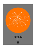Berlin Orange Subway Map Print by  NaxArt