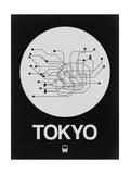 Tokyo White Subway Map Posters par  NaxArt