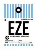 EZE Buenos Aires Luggage Tag I Lámina por  NaxArt