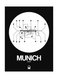 Munich White Subway Map Posters por  NaxArt