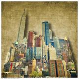 Vintage Skyline Posters by R. Bagozzi