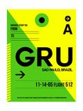 GRU Sao Paulo Luggage Tag I Plakat af  NaxArt