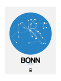 Bonn Blue Subway Map