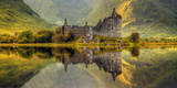 Kilchurn Castle Reflection in Loch Awe, Argyll and Bute, Scottish Highlands, Scotland Photographic Print